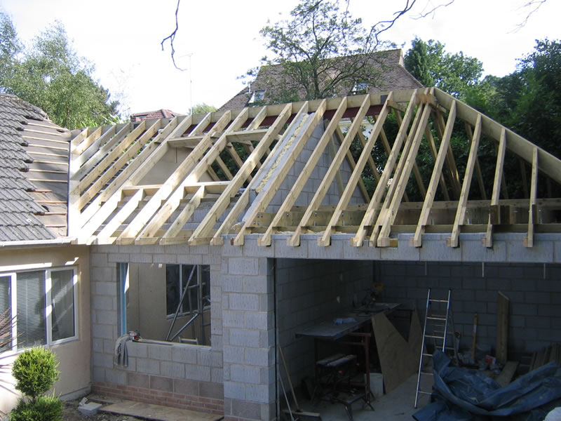 Home extension Bournemouth under construction by TP Carpentry