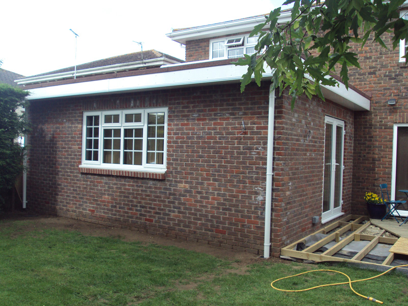 Home extension roofing under construction by Bournemouth home extension company, TP Carpentry