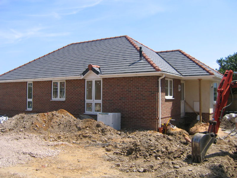 New build homes. New build home under construction in Bournemouth by TP Carpentry