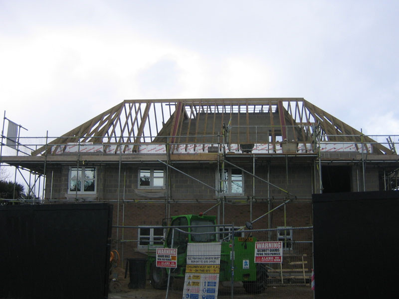 New build home underconstruction by Bournemouth new build specialists, TP Carpentry